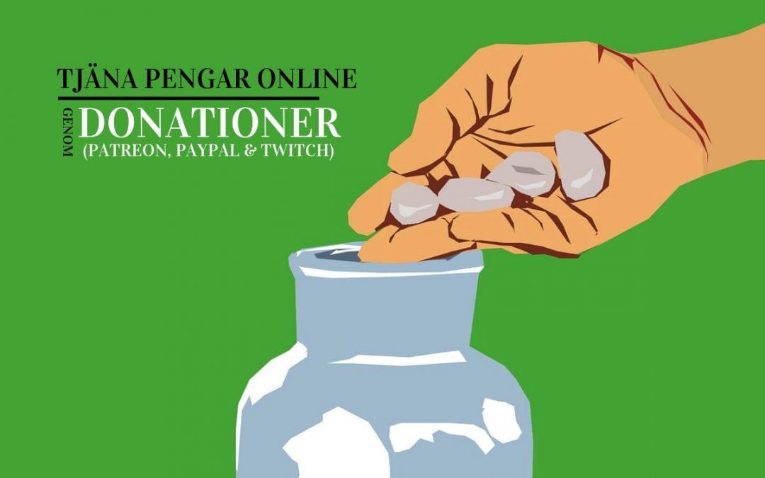 Tjäna pengar online genom donationer