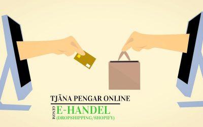 Tjäna pengar online genom e-handel (dropshipping / shopify)