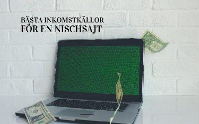 3 bästa inkomstkällor för en nischsajt
