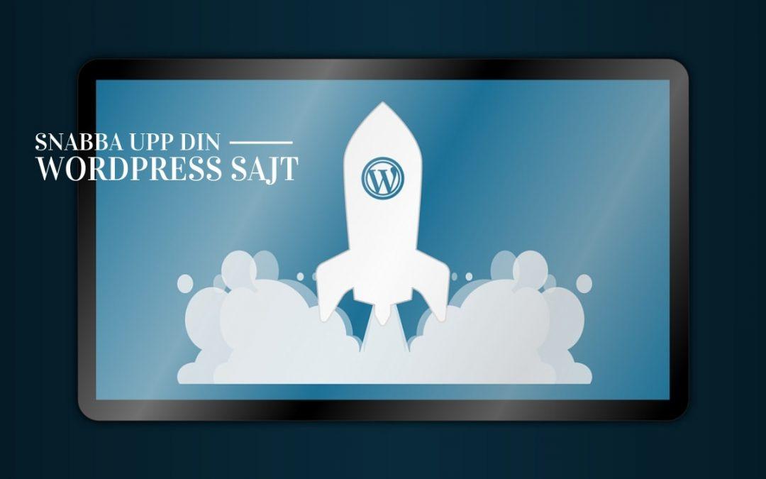 Snabbare sajt hos din wordpress sajt