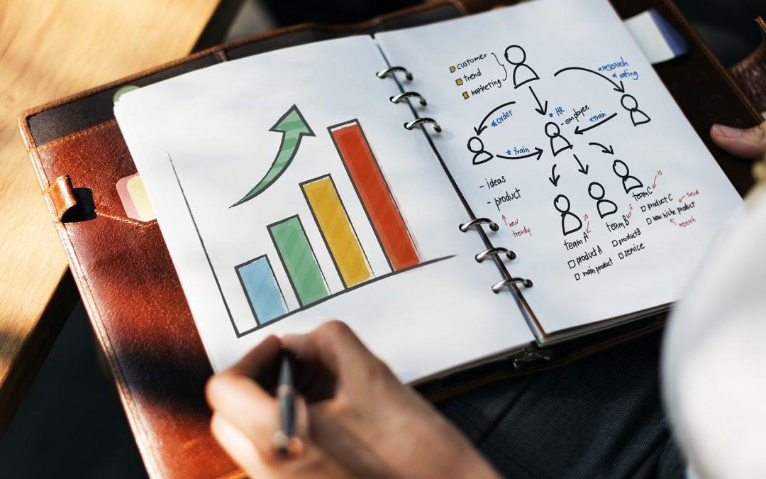 Dokument som visar tillväxt hos en verksamhet